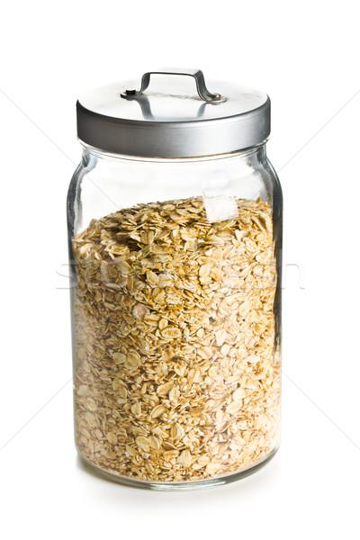 oatmeal in a jar Stock photo © jirkaejc