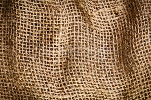 Toile de jute texture sac rétro wallpaper vintage Photo stock © jirkaejc