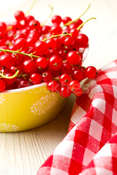 Stock photo: sweet red currants