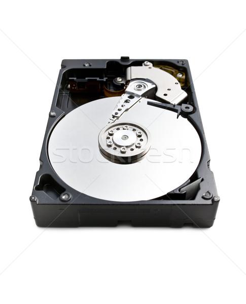 Festplatte weiß Hintergrund Sicherheit Software Disc Stock foto © jirkaejc