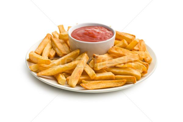 Prato ketchup branco fundo comer Foto stock © jirkaejc