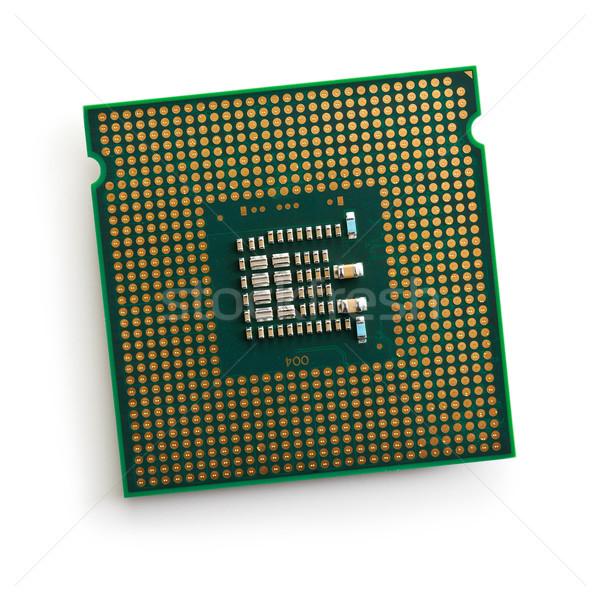 Bilgisayar işlemci beyaz iş arka plan sanayi Stok fotoğraf © jirkaejc