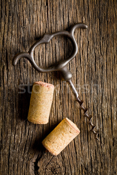 wine cork and corkscrew  Stock photo © jirkaejc