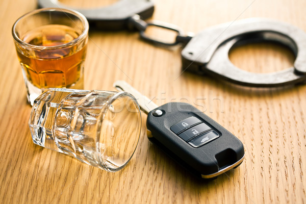 Beber conducción vidrio bar alcohol delincuencia Foto stock © jirkaejc