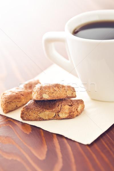 almond cookies and coffee Stock photo © jirkaejc
