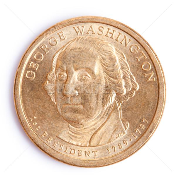 ストックフォト: 1 · ドル · コイン · ワシントン · 写真 · ショット