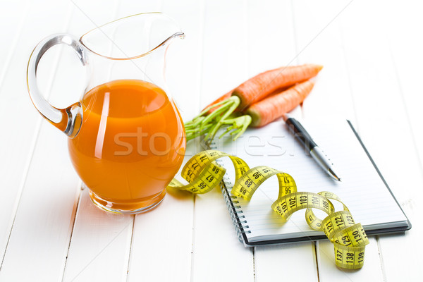 Foto stock: Dieta · beber · fita · cenoura · vegetal
