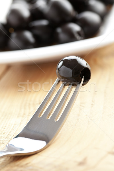 Siyah zeytin fotoğraf atış gıda salata Stok fotoğraf © jirkaejc
