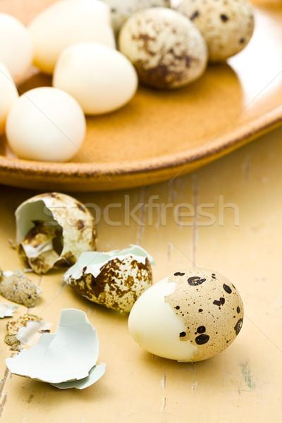 Uova tavolo da cucina alimentare natura uovo Foto d'archivio © jirkaejc