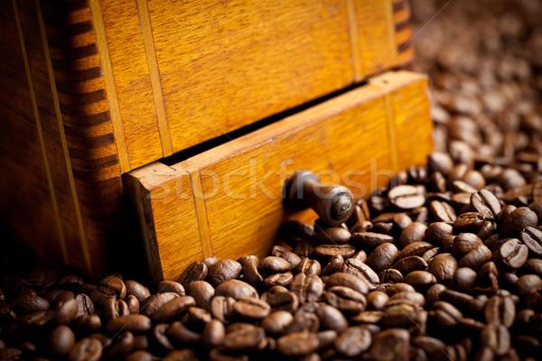 Dettaglio antichi caffè mill alimentare legno Foto d'archivio © jirkaejc