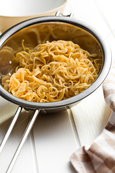 boiled chinese noodles in colander Stock photo © jirkaejc