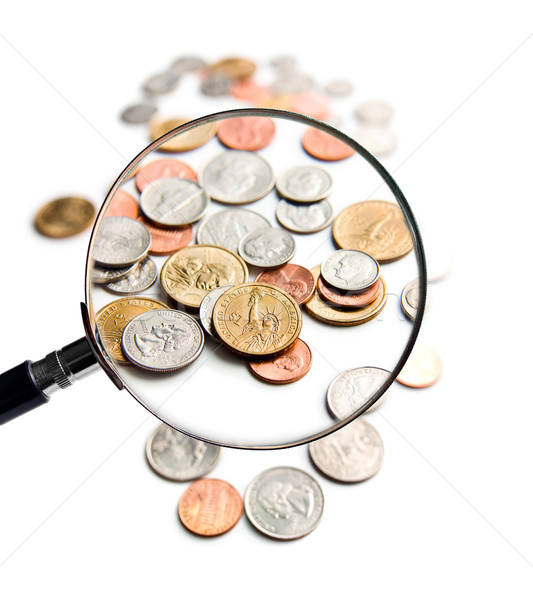 U.S. Coins magnification magnifier Stock photo © jirkaejc