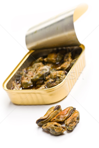 smoked mussels in opened tin can Stock photo © jirkaejc