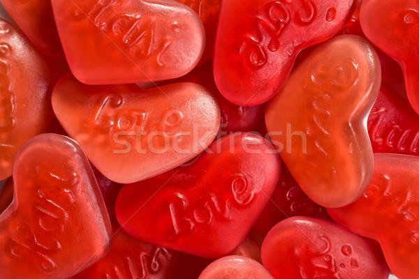 Rouge coeur confiserie fond bonbons couleur Photo stock © jirkaejc