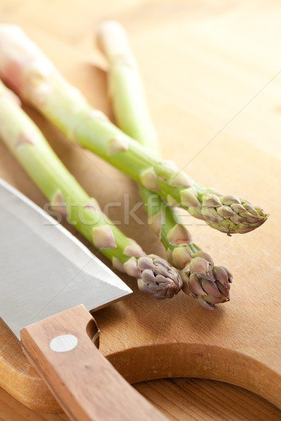 Stock photo: fresh green asparagus