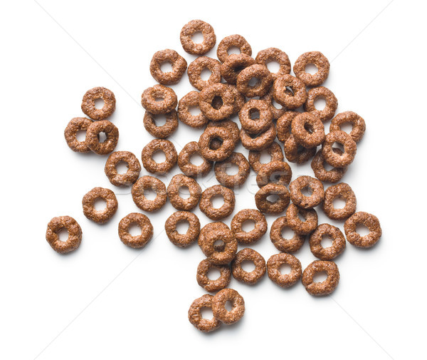 Stock photo: chocolate cereal rings