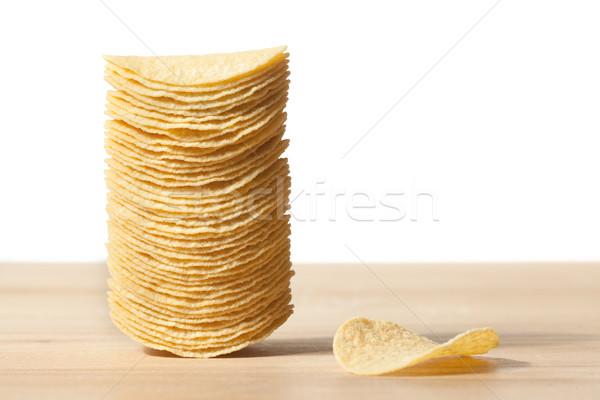 Batatas fritas foto tiro fundo almoço rápido Foto stock © jirkaejc