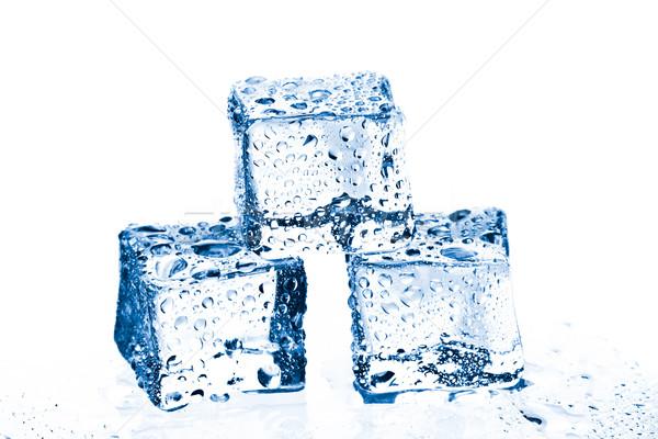 pile of three ice cubes Stock photo © jirkaejc