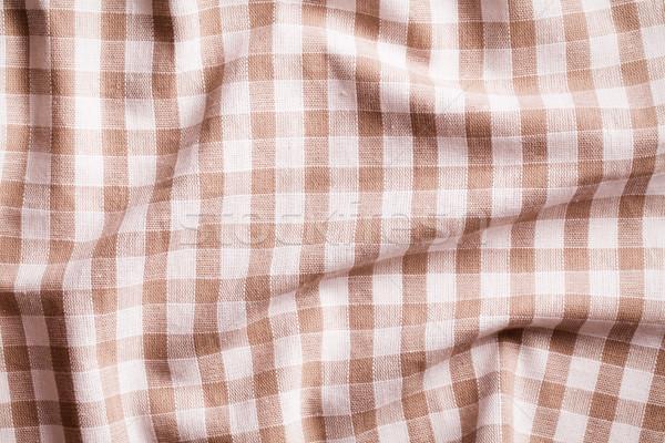 скатерть текстуры фон ткань белый Сток-фото © jirkaejc