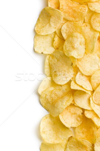 ぱりぱり 白 食べる ジャガイモ カット ストックフォト © jirkaejc