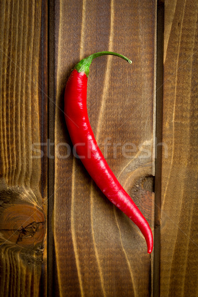 chili pepper on wooden background Stock photo © jirkaejc