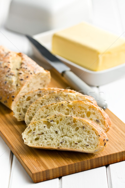 sliced bread on cutting board Stock photo © jirkaejc