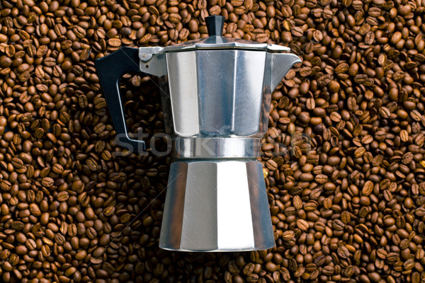 coffee maker on coffee beans Stock photo © jirkaejc