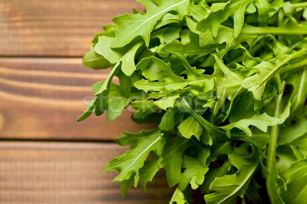 Stock foto: Frischen · Blätter · alten · Holztisch · Natur · Blatt