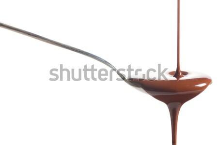 Chocolate poured into a spoon Stock photo © jirkaejc