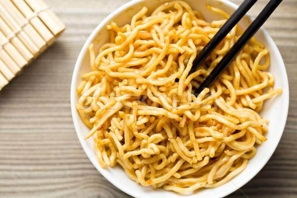 Kínai tészta kerámia tál étel ázsiai Stock fotó © jirkaejc