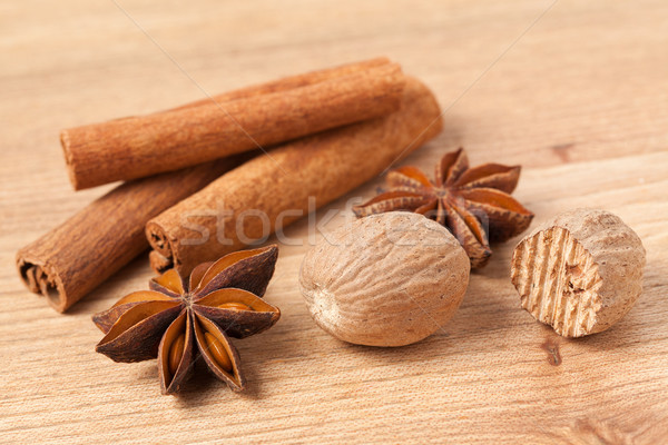 cinnamon,anise and nutmeg Stock photo © jirkaejc