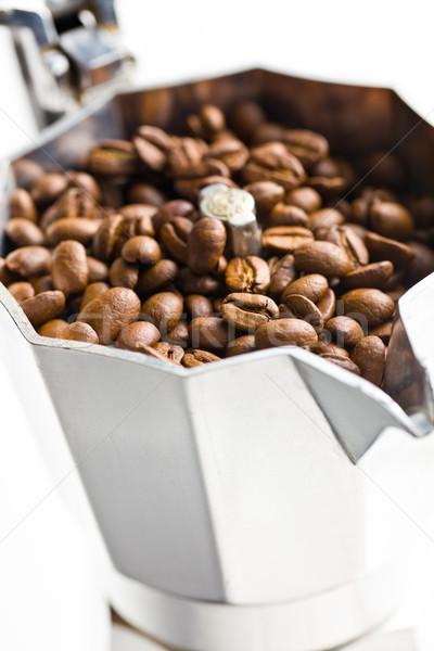 coffee beans in coffee maker Stock photo © jirkaejc