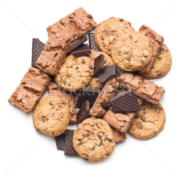 chocolate cookies and brownies Stock photo © jirkaejc