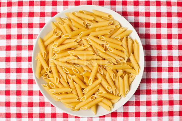 Pasta Platte Picknick Tischdecke Restaurant Weizen Stock foto © jirkaejc