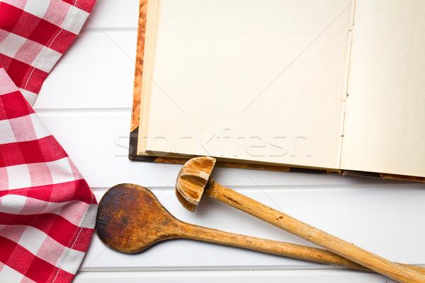 cookbook with kitchenware Stock photo © jirkaejc