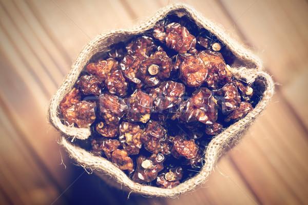 dried Physalis Fruits in jute bag Stock photo © jirkaejc