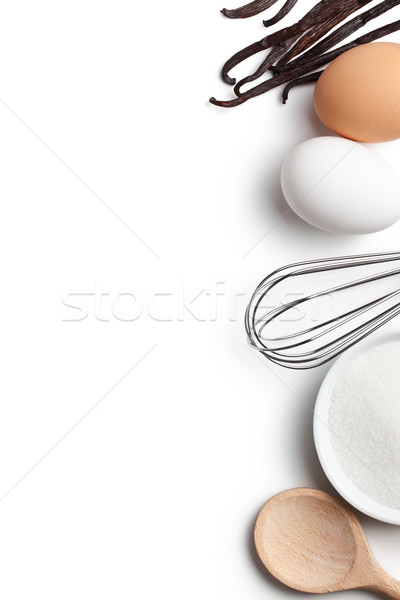 Cooking concept. Ingredients and kitchen tools. Stock photo © jirkaejc
