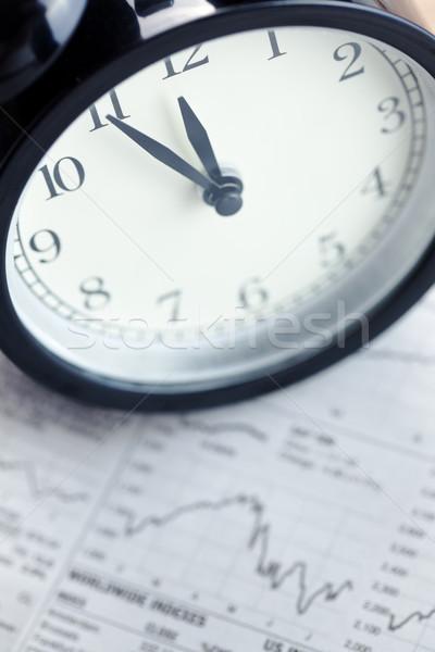ébresztőóra pénzügyi pillanat üzlet pénz munka Stock fotó © jirkaejc