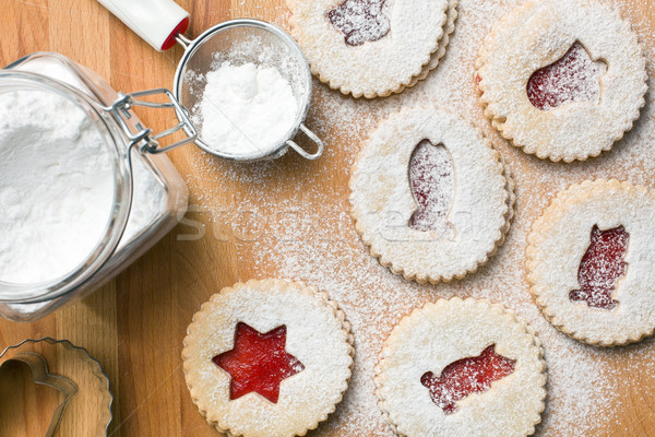 jelly christmas cookies with icing sugar Stock photo © jirkaejc