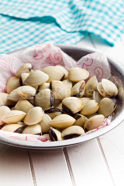 raw clams in bowl Stock photo © jirkaejc