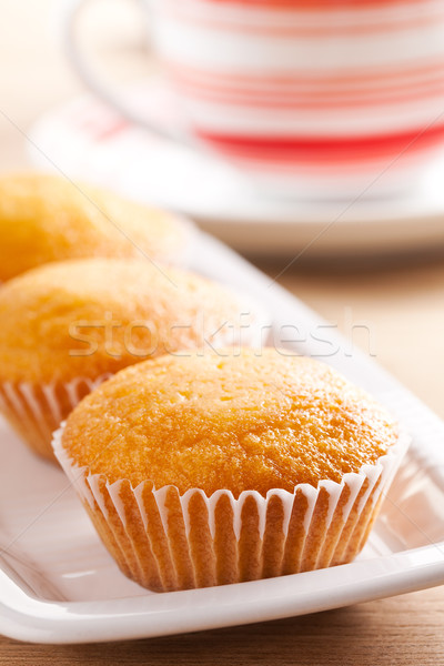 Zoete muffins foto shot cake snoep Stockfoto © jirkaejc
