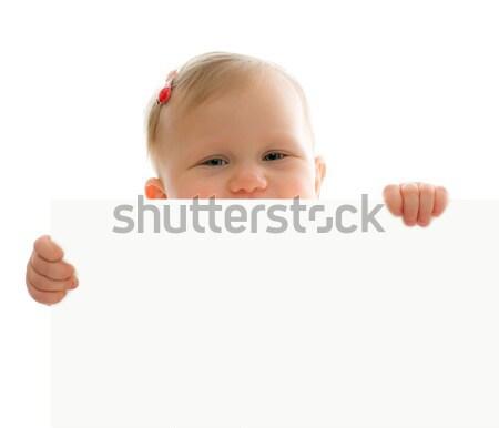 little baby behind white board Stock photo © jirkaejc