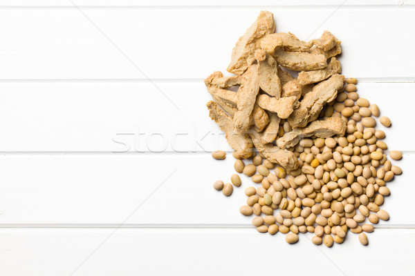 soy meat with soybeans Stock photo © jirkaejc