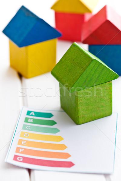 木製 家 エネルギー効率 建物 緑 おもちゃ ストックフォト © jirkaejc