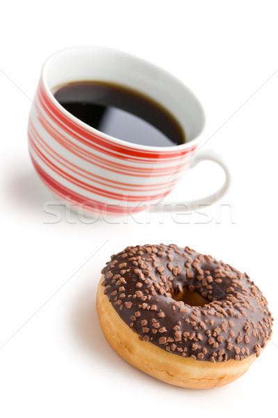 ドーナツ ブラックコーヒー 白 食品 チョコレート 脂肪 ストックフォト © jirkaejc