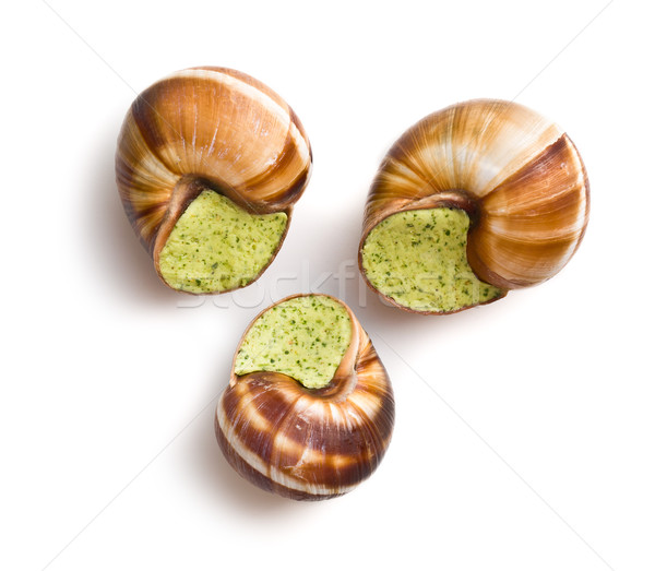 snails with butter and parsley Stock photo © jirkaejc