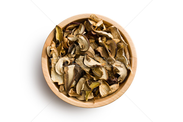 dried mushrooms in wooden bowl Stock photo © jirkaejc