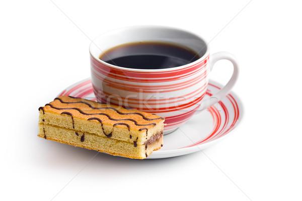 Zdjęcia stock: Słodkie · deser · kubek · kawy · biały · żywności · tle