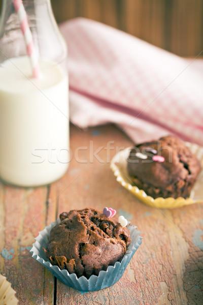 chocolate muffins Stock photo © jirkaejc