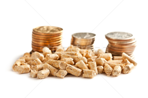 Wooden pellets -bio fuel. Stock photo © jirkaejc